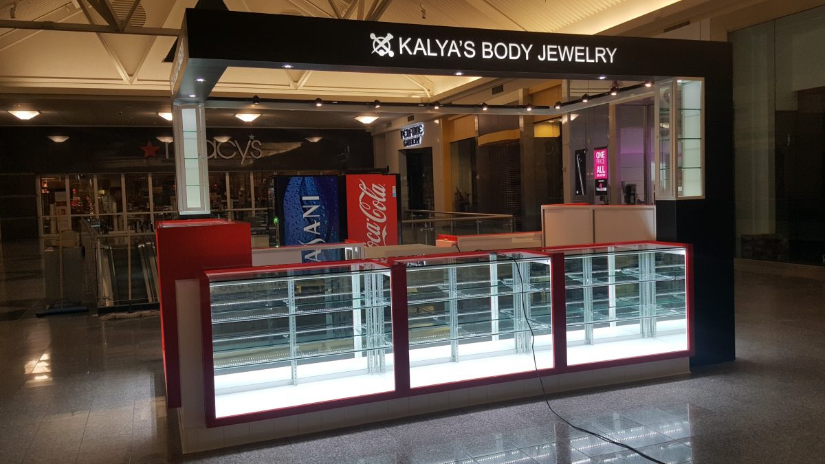 Kalya's Body Jewelry Kiosk at Promenade Temecula
