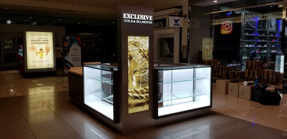 Exclusive Gold & Diamonds Kiosk at Northridge Fashion Center
