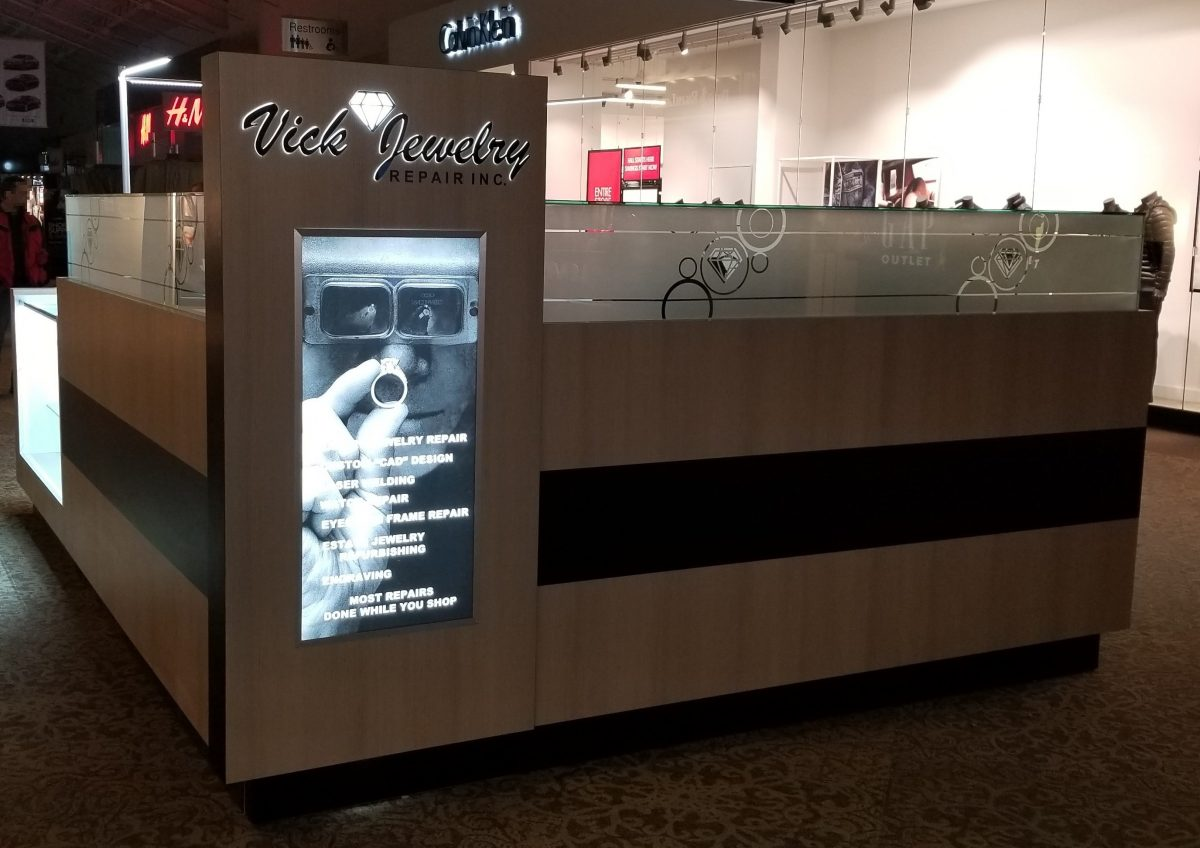 Vick Jewelry Repair Kiosk at Ontario Mills