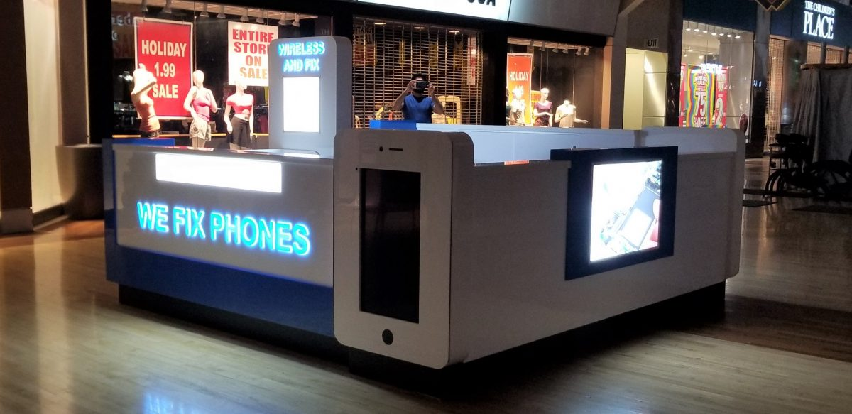 Wireless and Fix Kiosk at Ontario Mills