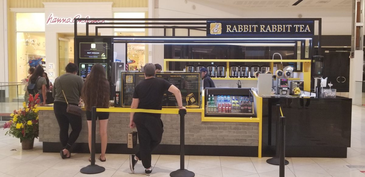 Rabbit Rabbit Tea Kiosk at Westfield Valley Fair