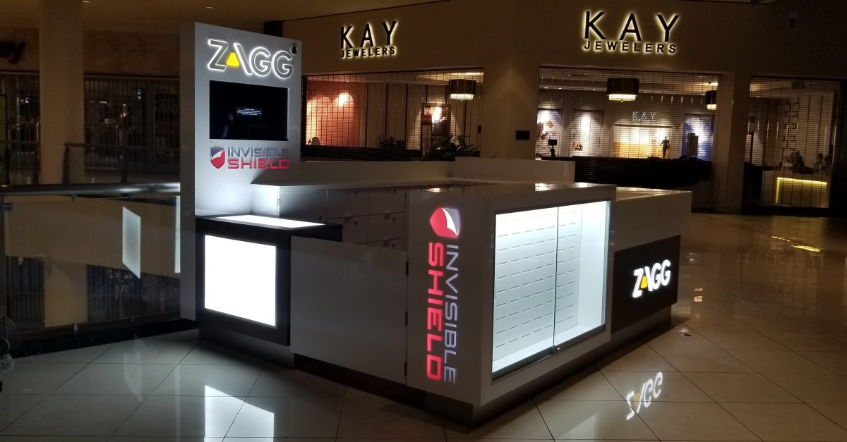 Zagg InvisibleShield Kiosk at Northridge Fashion Center