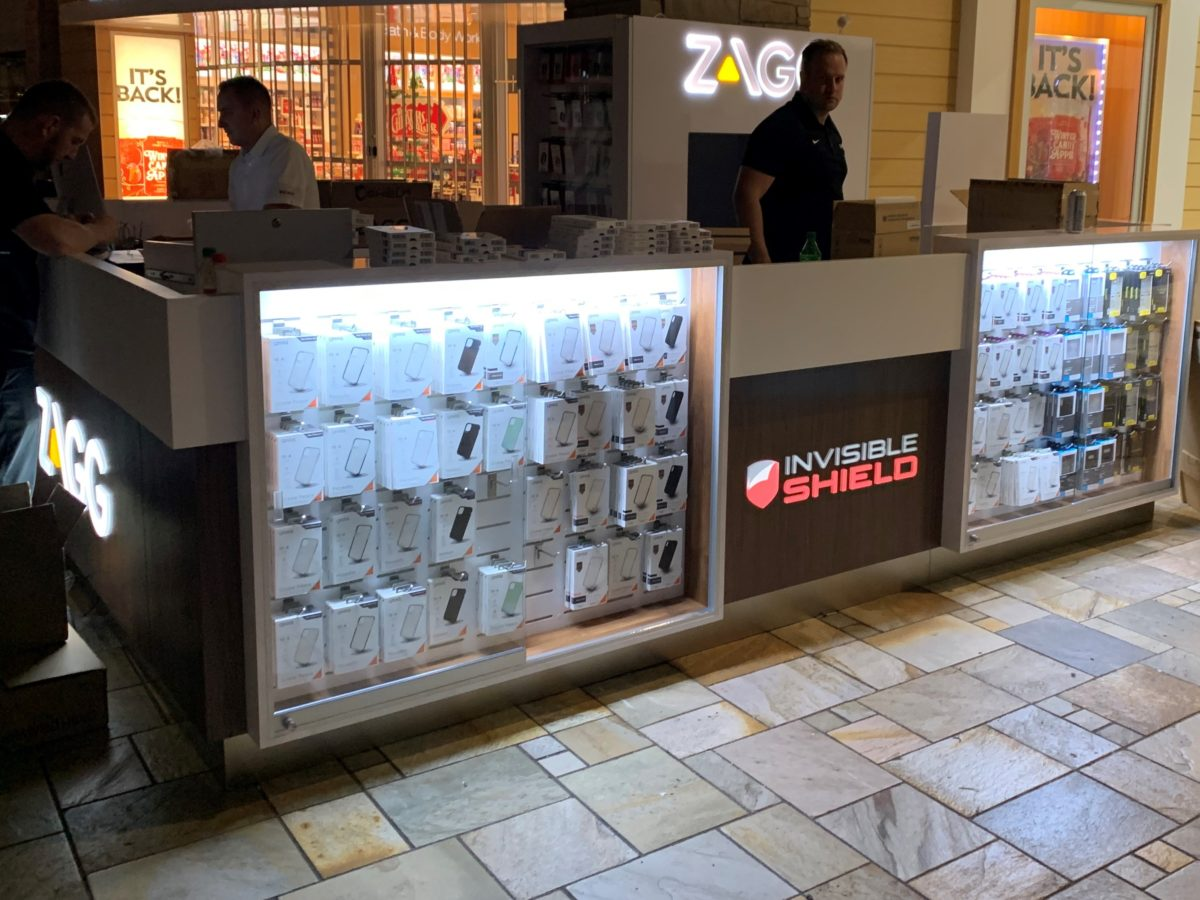 Zagg Invisible Shield Kiosk at FlatIron Crossing