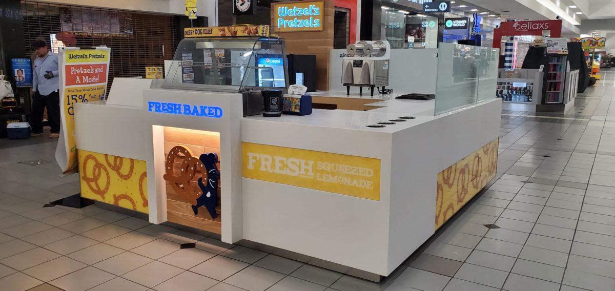 Wetzel's Pretzels Kiosk at SouthBay Pavilion