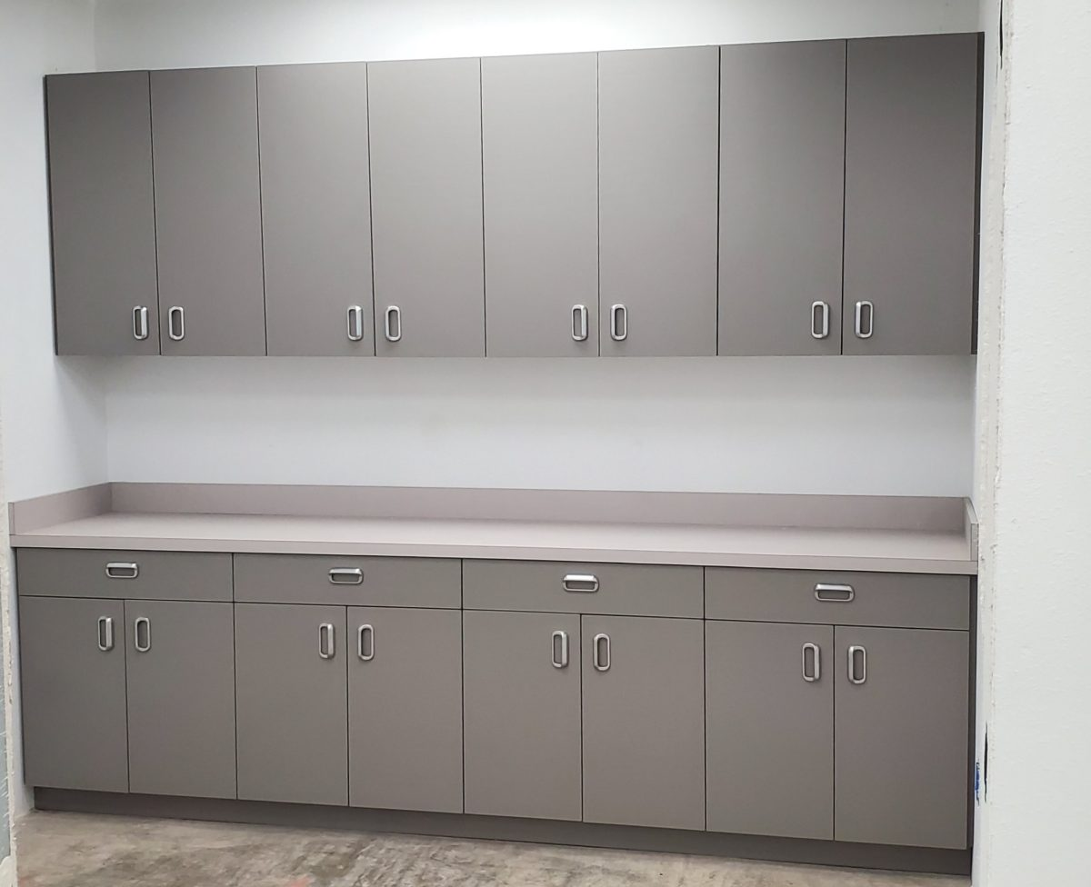 Cabinets and Corian Tops for Veterinary Eye Clinic