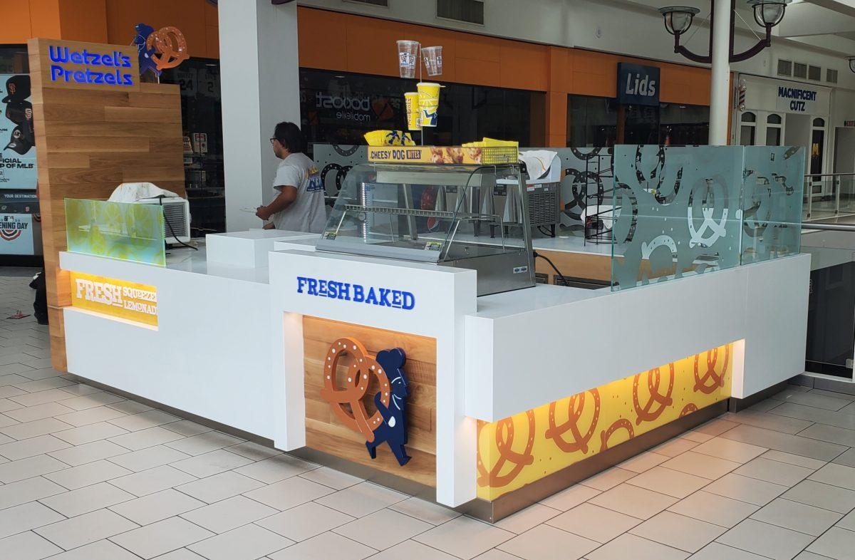 Wetzel's Pretzels Kiosk for Arden Fair