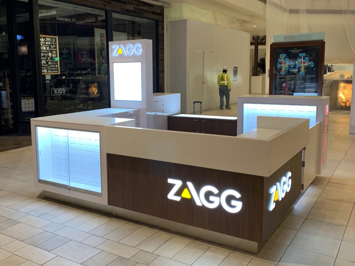 Zagg InvisibleShield Kiosk at Barton Creek Square