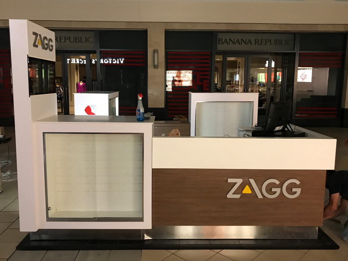 Zagg InvisibleShield Kiosk at The Maine Mall