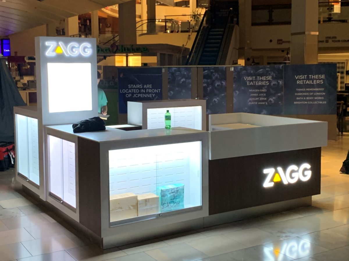 Zagg InvisibleShield Kiosk at North Star Mall