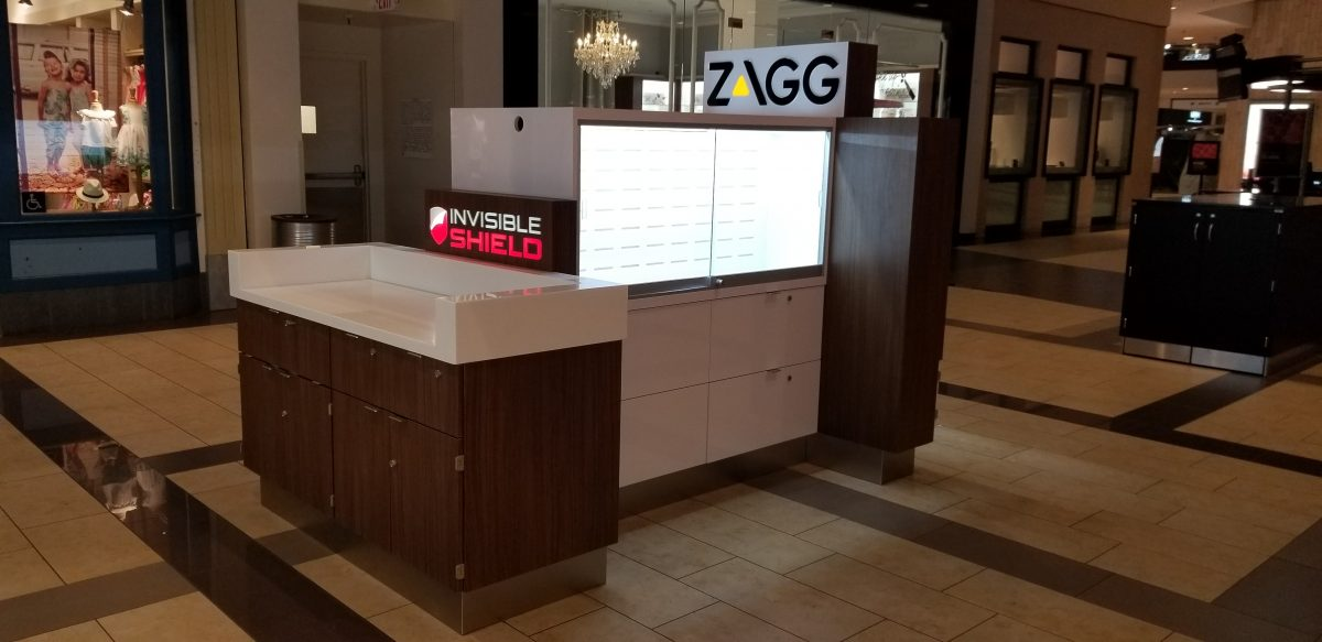 Zagg InvisibleShield Kiosk at Brea Mall