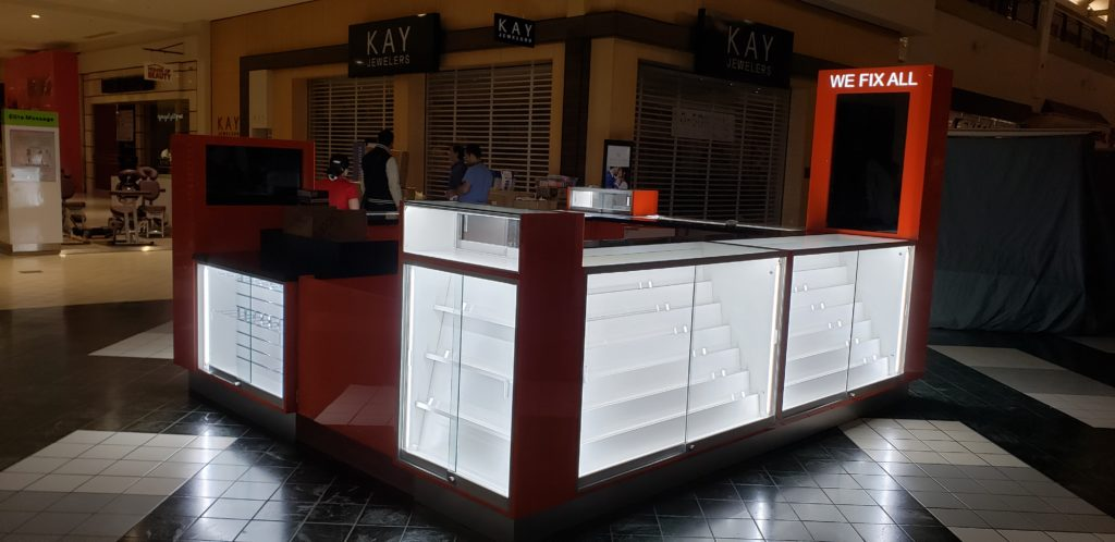 We Fix All mall kiosk