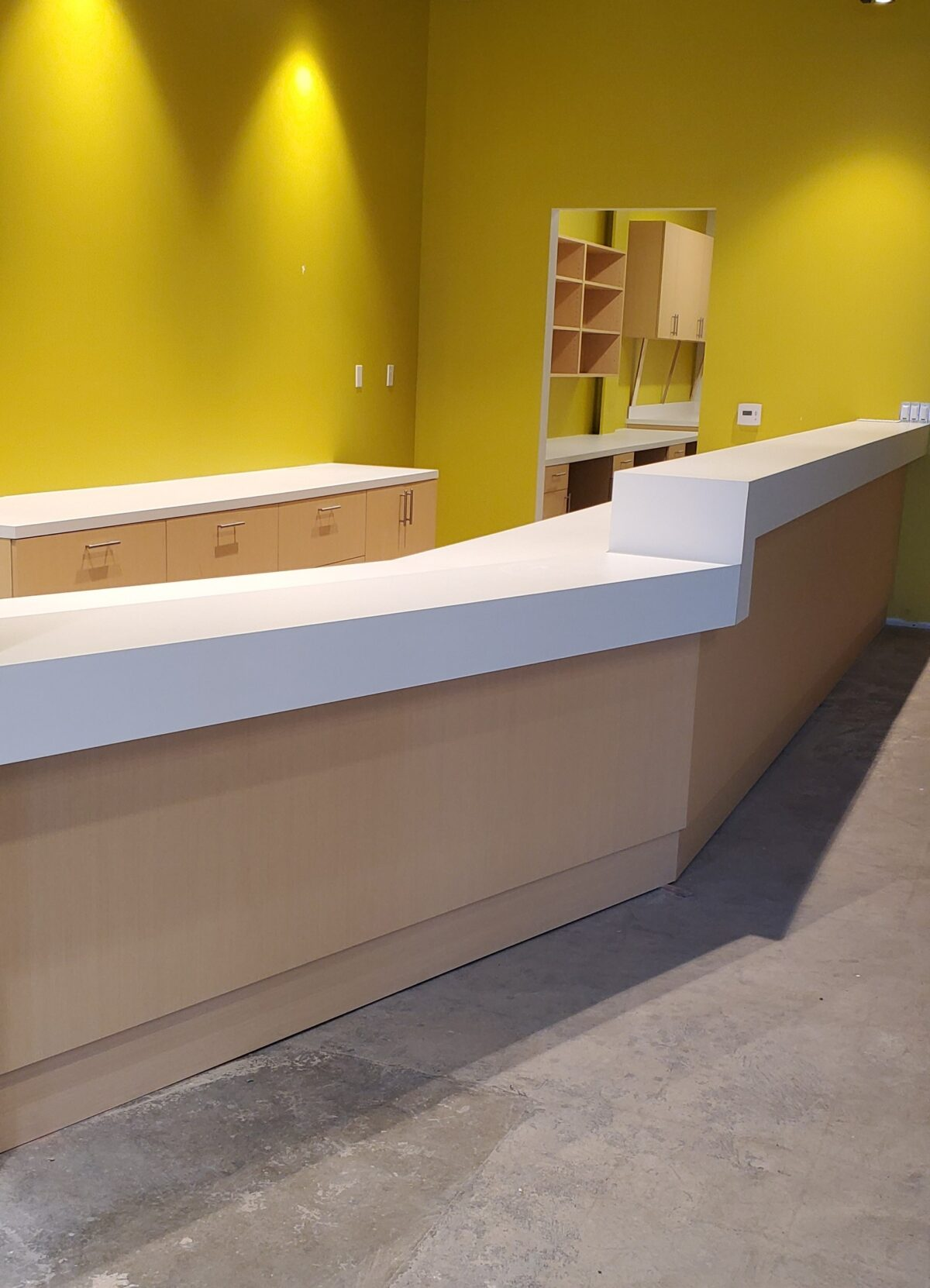 Cabinets, counter tops and shelving for South Center Family Health Center – Optic Eye Clinic