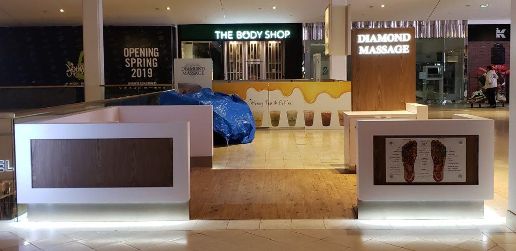 diamond massage kiosk
