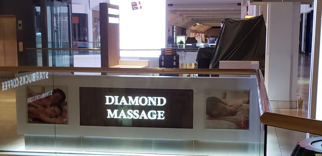 diamond massage kiosk front