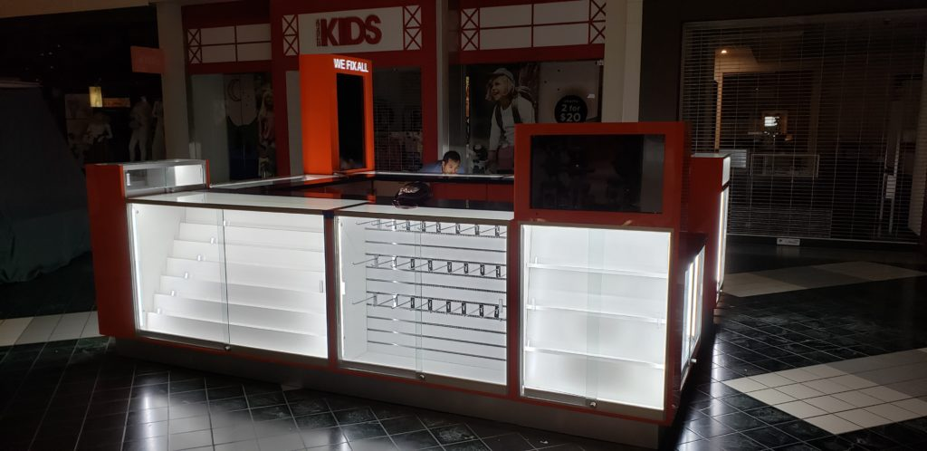 We Fix All electronics mall kiosk