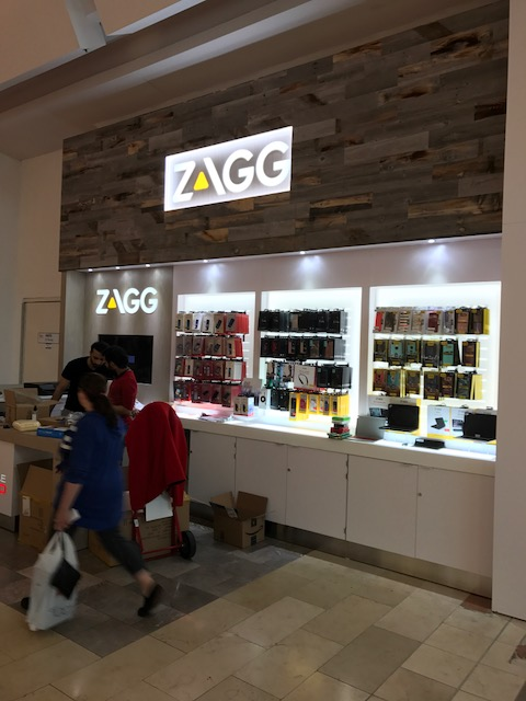 Zagg InvisibleShield Kiosk at Westfield Garden State Plaza