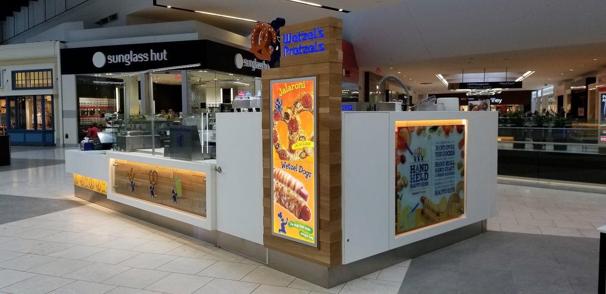 Wetzel's Pretzels Kiosk at Westfield Santa Anita
